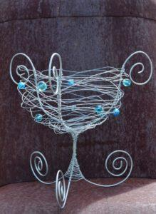 Whimsical wire basket.