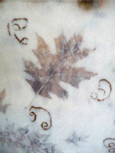 Pin Oak on wool